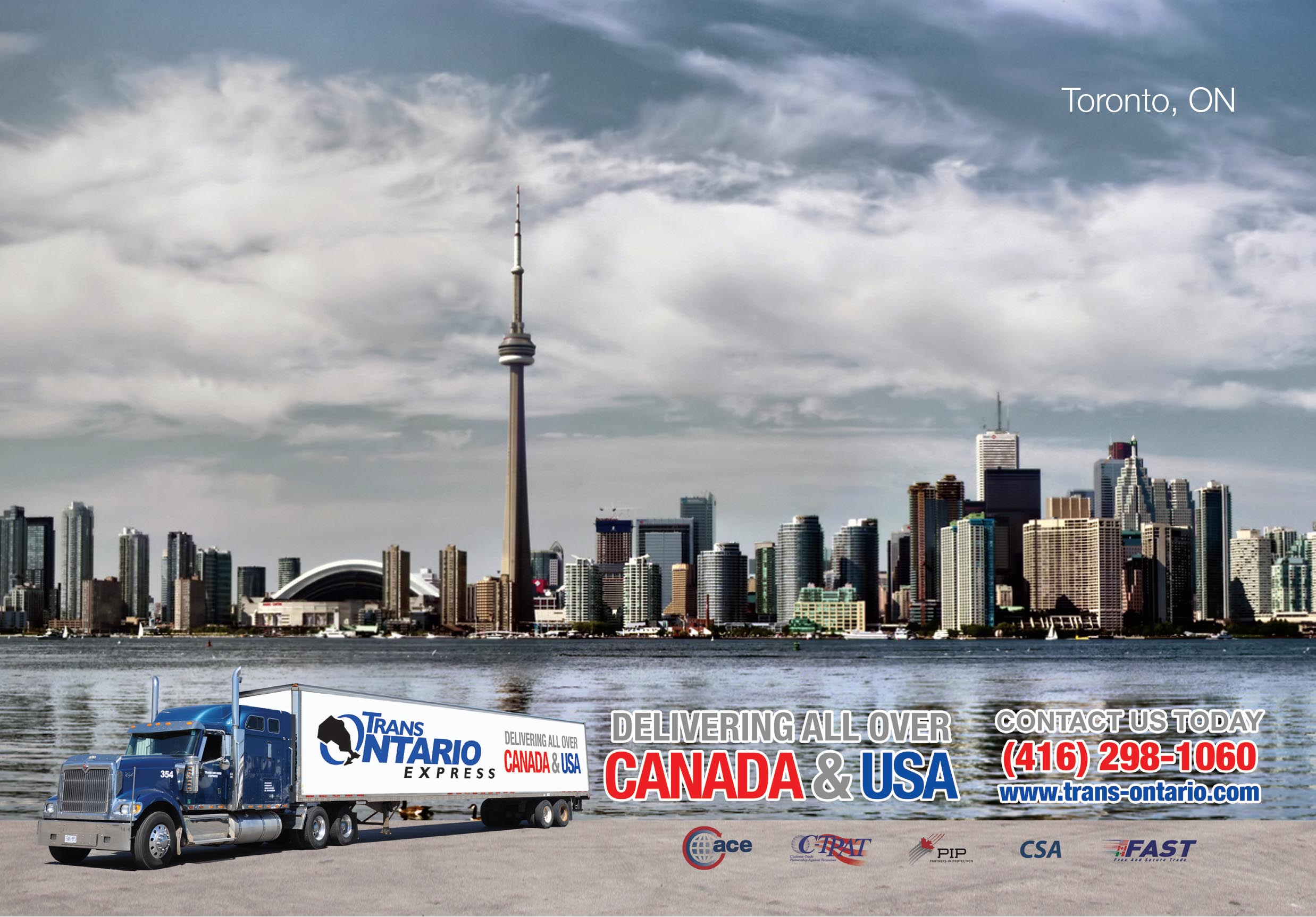 Toronto courier trucking rush sameday freight shipping delivery